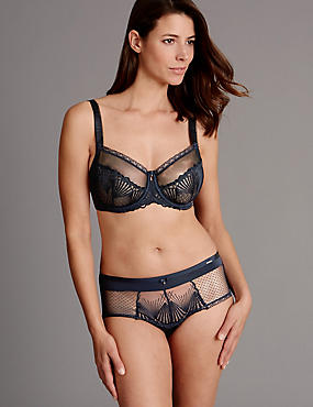 Embroidered Set with Non-Padded Balcony DD-G, , catlanding