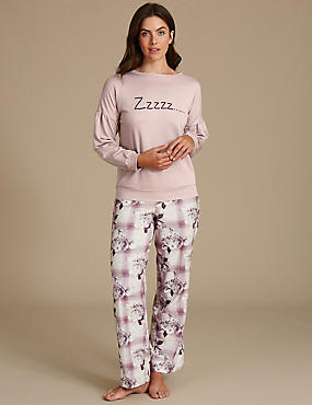 Long Sleeve Pyjama Set, , catlanding
