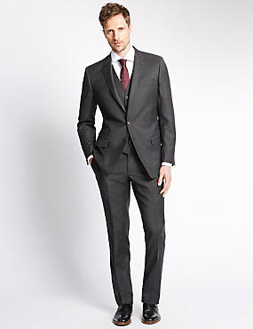Charcoal Slim Fit Suit Including Waistcoat