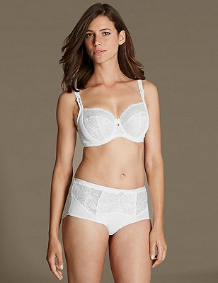 Amelie Lace Set with Underwired Non-Padded Balcony DD-GG, , catlanding