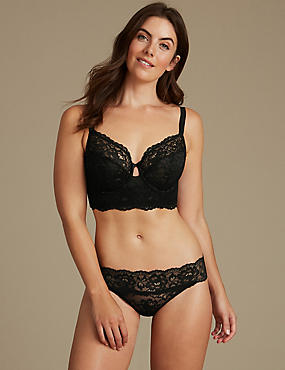 Lace Set with Non-Padded Full Cup B-DD, , catlanding