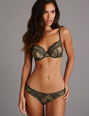 Dentelle Lace Set with Non Padded Balcony, , catlanding