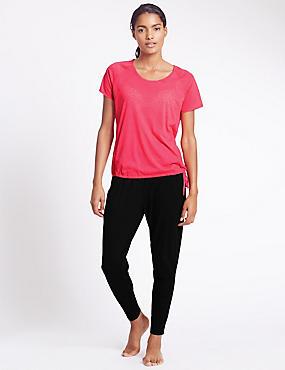 Ensemble pantalon de yoga et t-shirt à motif bulles, séchage rapide, , catlanding