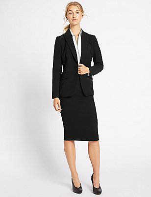 Crepe Jacket & Skirt Set, , catlanding