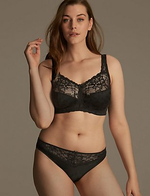 Jacquard Lace Set with Full Cup B-G, , catlanding