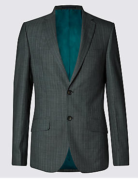 Ultimate Performance Grey Pinstriped Tailored Fit Suit