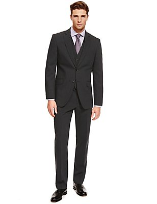 Charcoal Regular Fit Suit, , catlanding