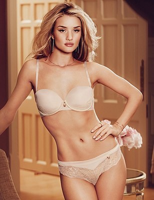 Rose Lace Set with Padded A-DD Balcony, , catlanding
