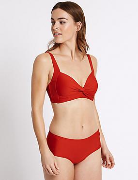 Twisted Plunge Bikini Set, , catlanding