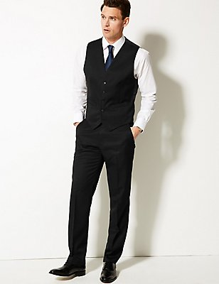 Black Regular Fit 3 Piece Suit, , catlanding