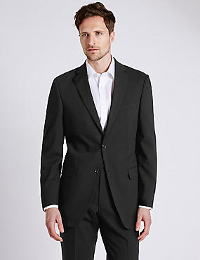 Big & Tall Black Regular Fit Suit, , catlanding