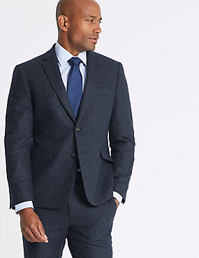 Wool Blend Slim Fit Suit with Italian fabric , , catlanding