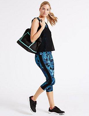 Tropical Print Vest & Cropped Leggings Set, , catlanding
