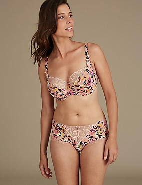 Floral Print Set with Non-Padded Balcony DD-GG, , catlanding