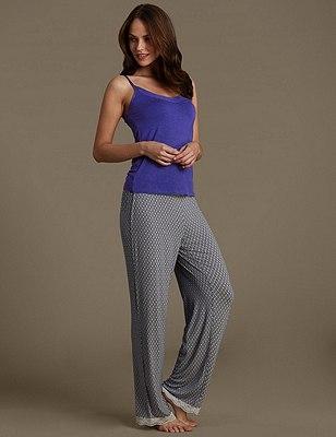 Vest Top Pyjama Set, , catlanding