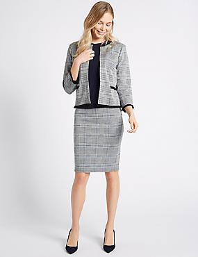 Checked Jersey Skirt, , catlanding