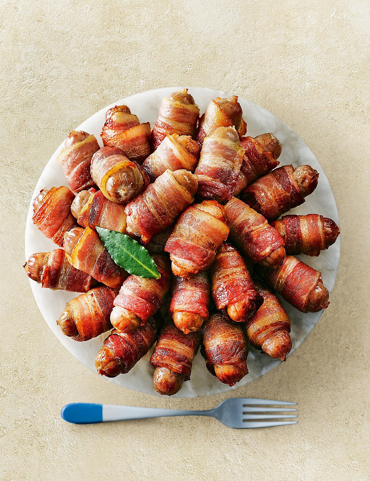 32 Bacon & Sausage Rolls
