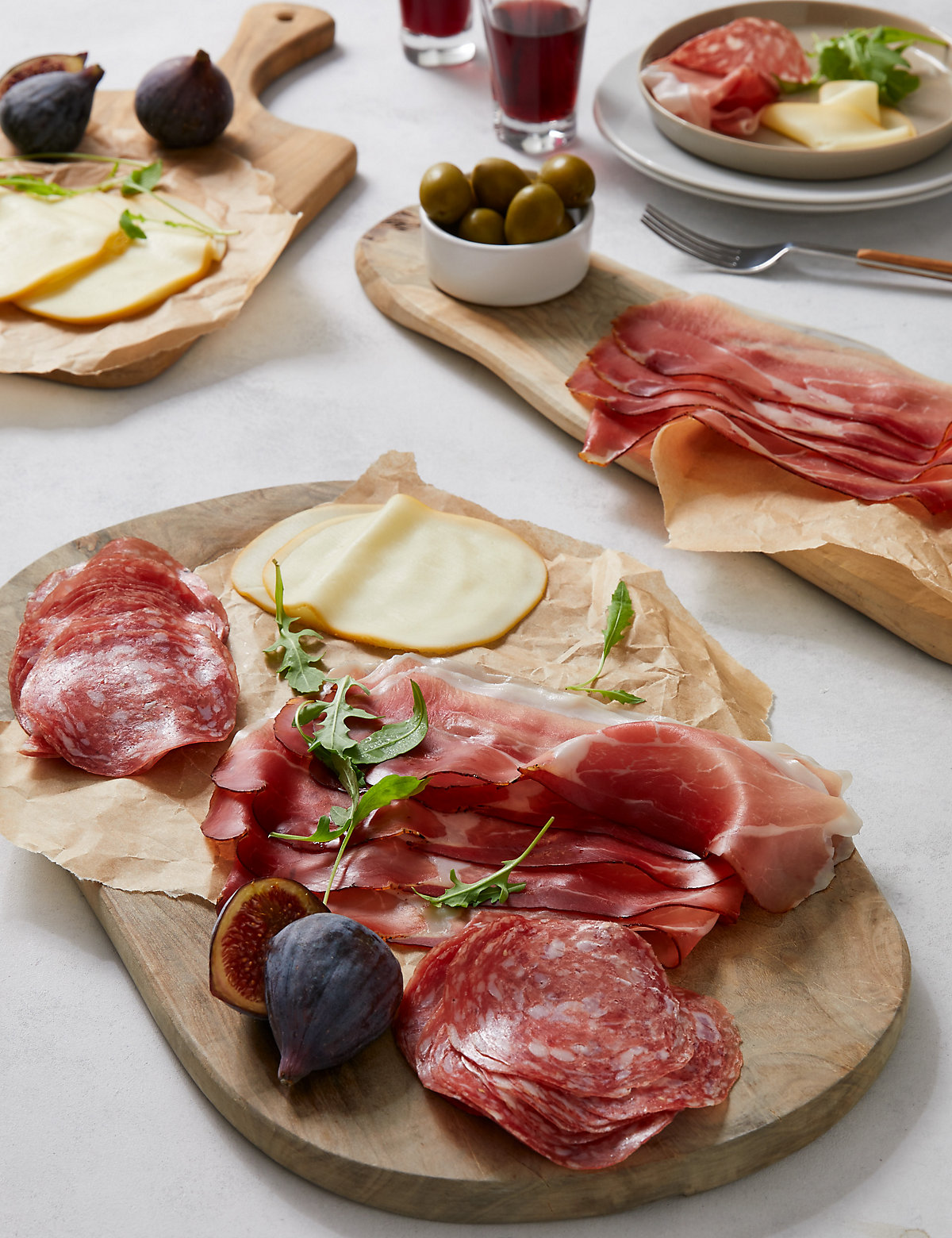 Traditional Italian Smoked Meats & Cheese Platter