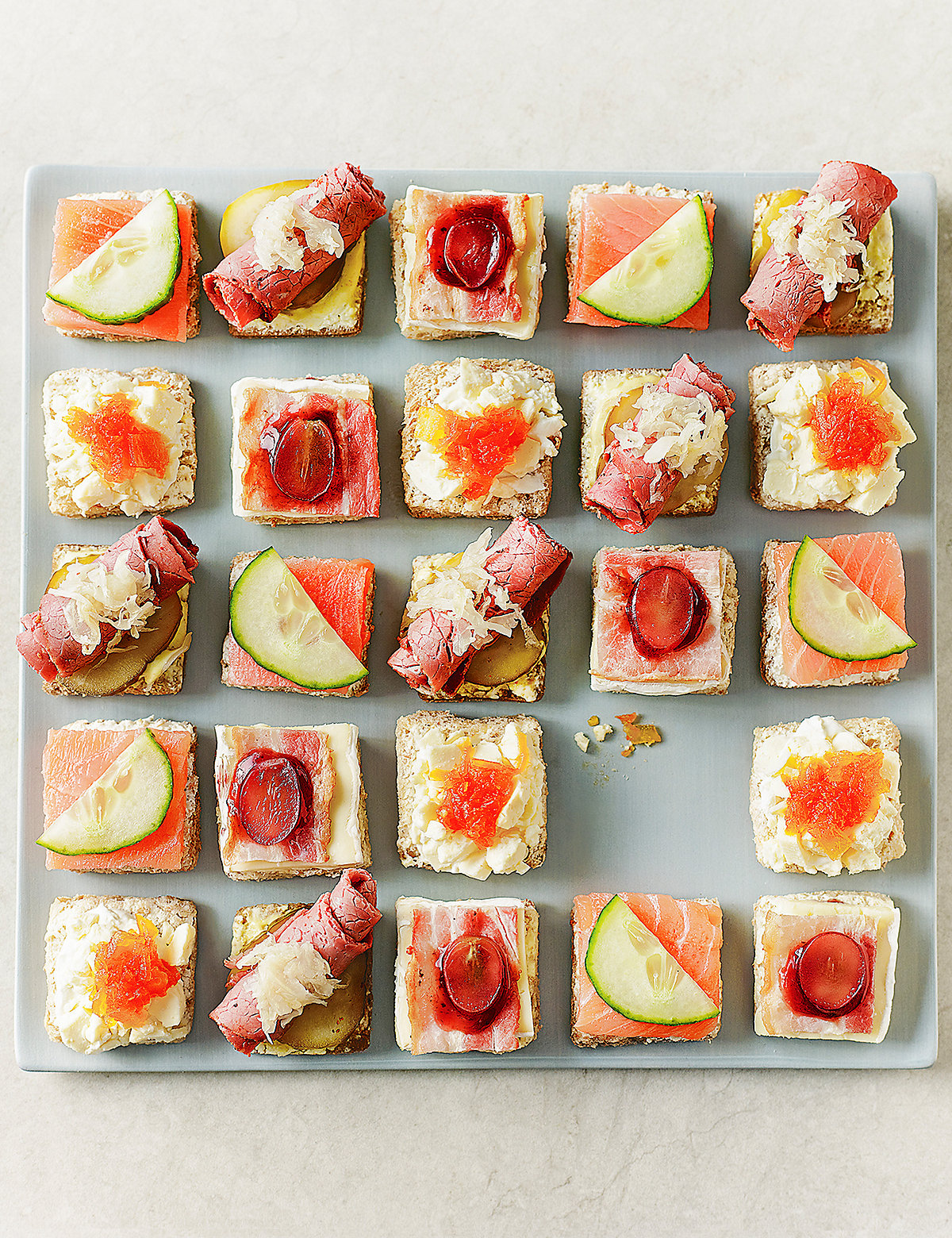 Marks and spencer luxury canape selection 24 pieces for Canape selection