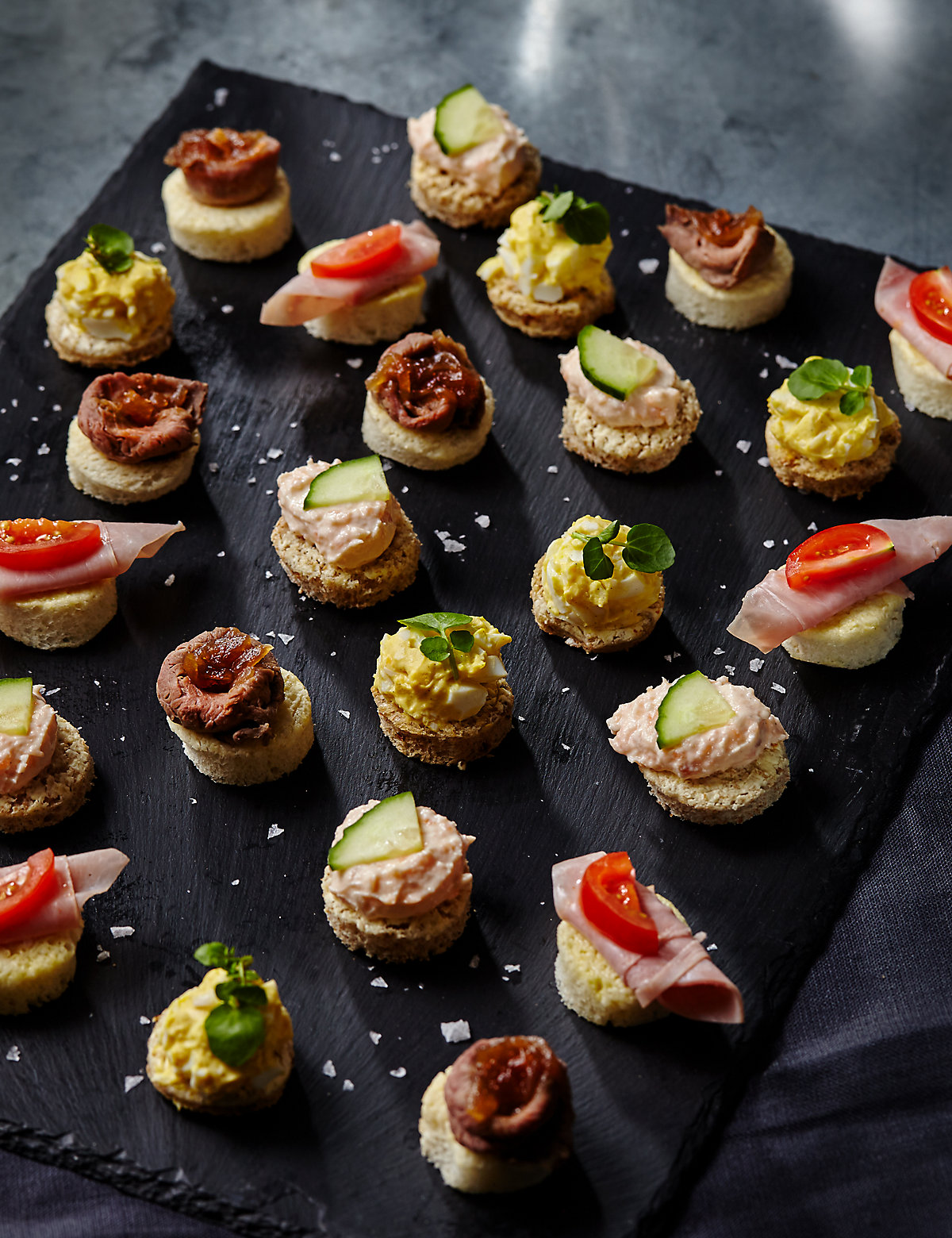 Marks and spencer 24 mini topped canap platter for Canape serving platters