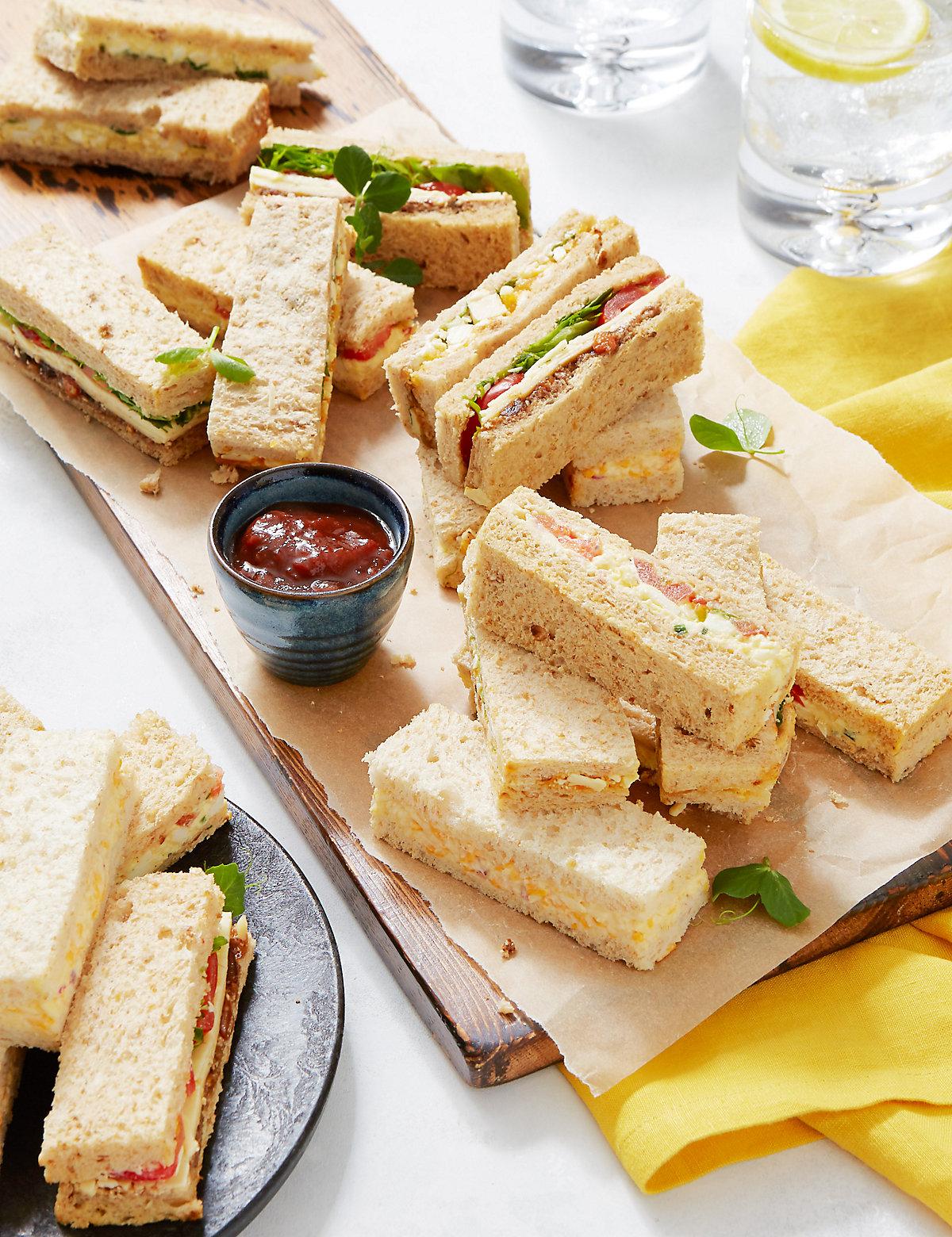 Vegetarian Sandwich Finger Platter (20 Sandwich Fingers)