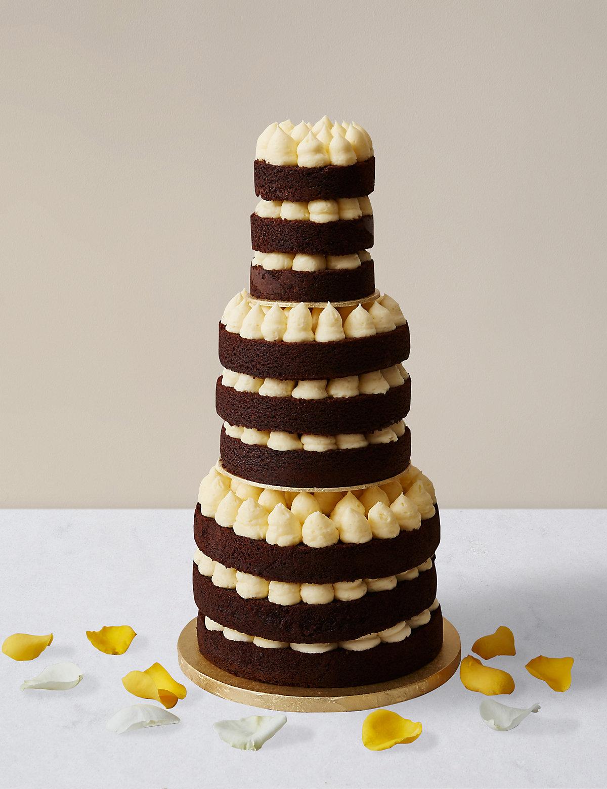 Naked Style Chocolate & Vanilla Wedding Cake