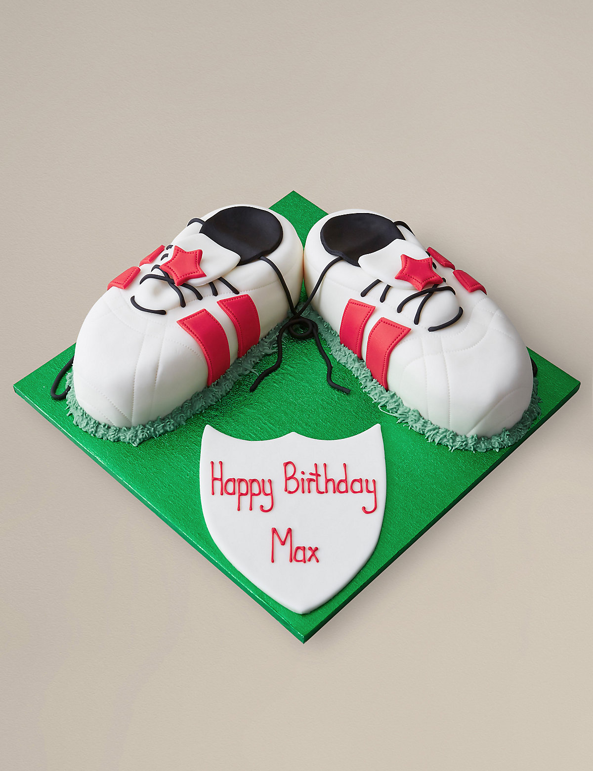 Sports Boots Cake - Red