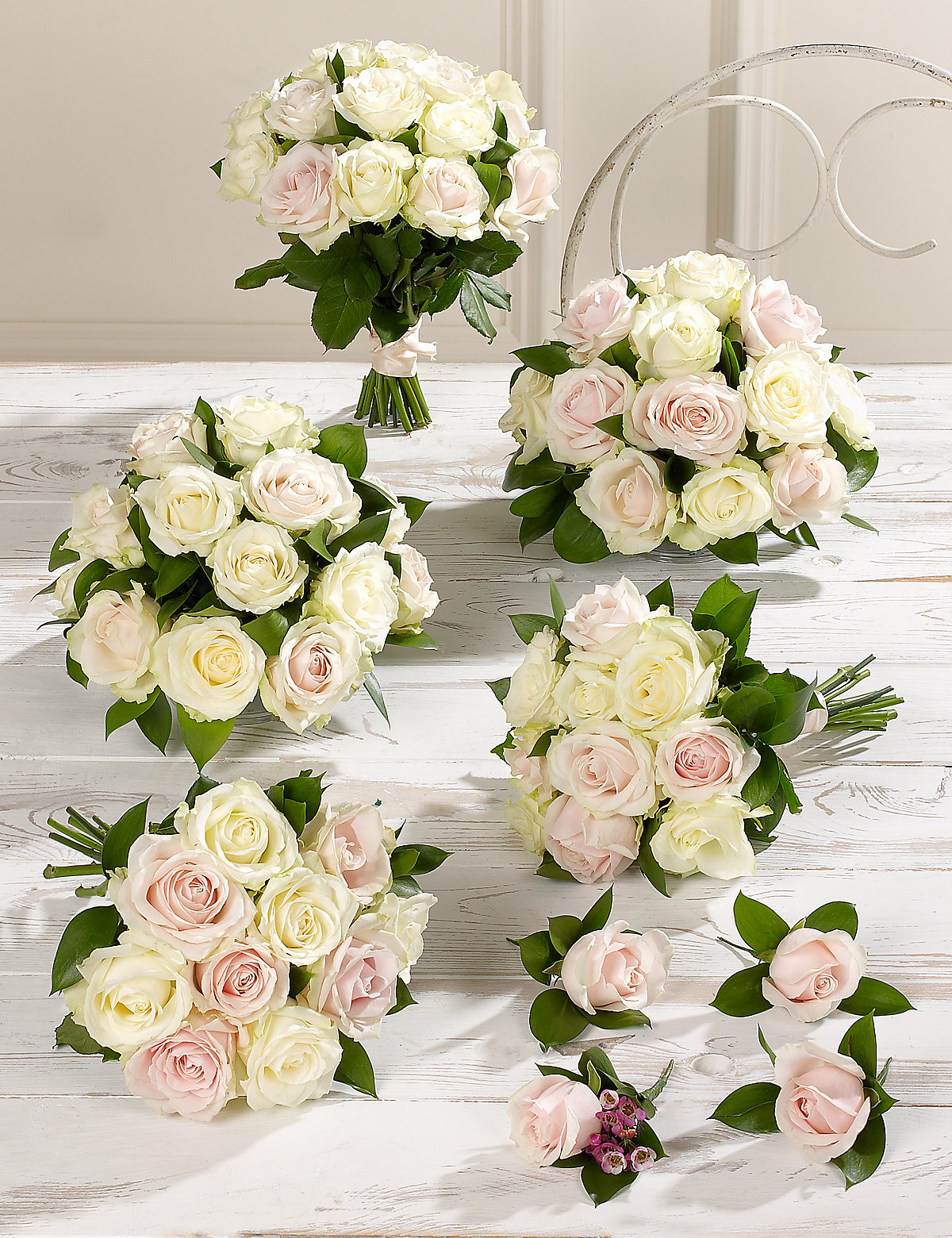 Pink White Luxury Rose Wedding Flowers Collection 3