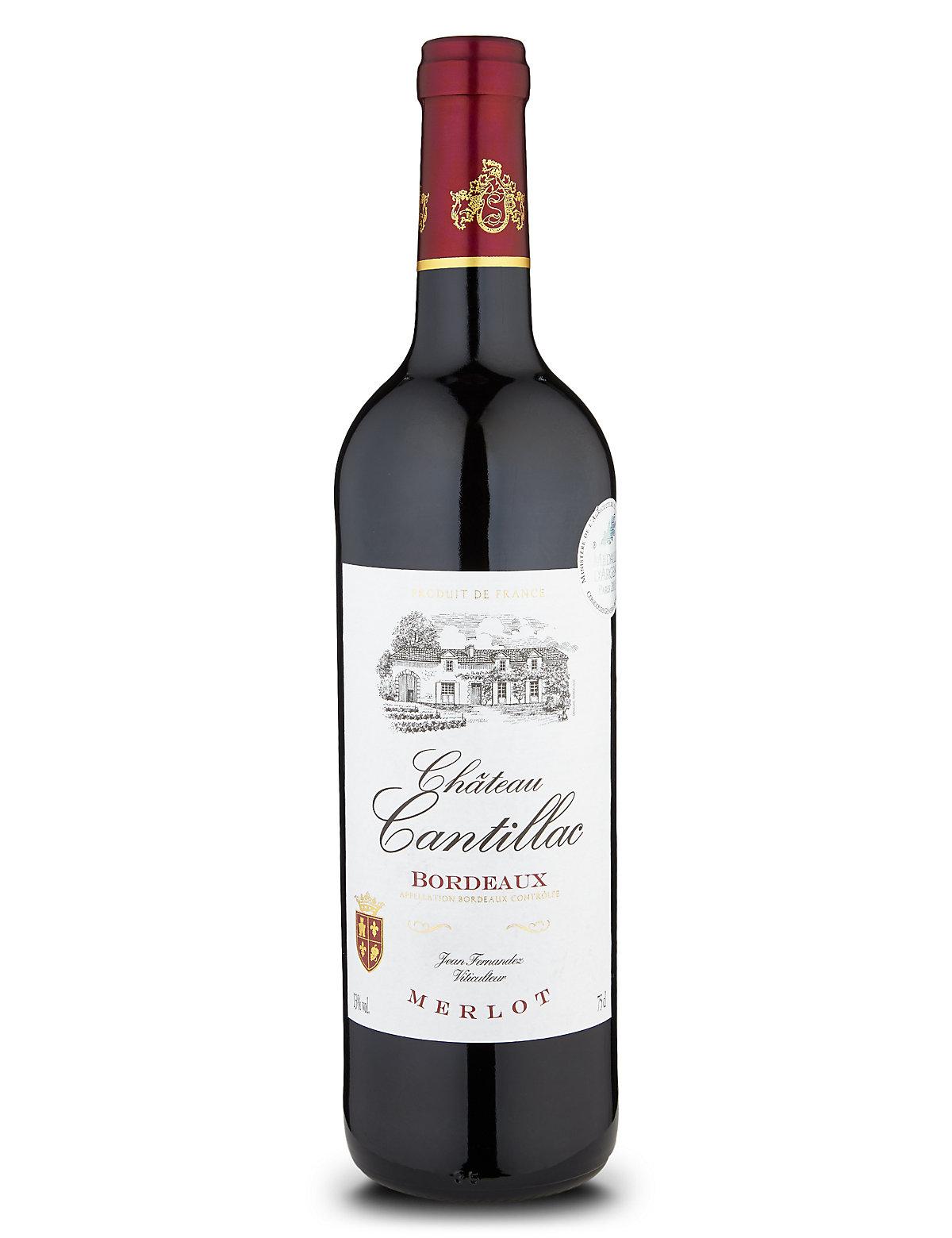 Château Cantillac Bordeaux Merlot - Case of 6