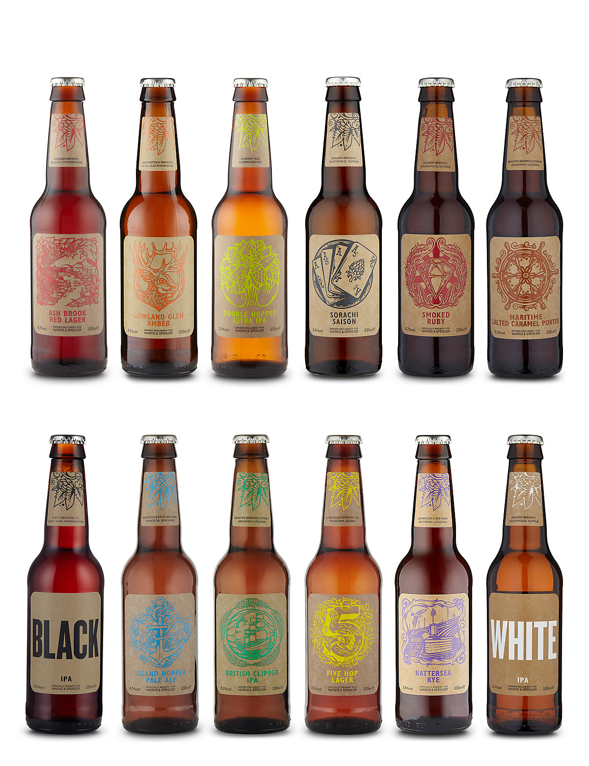 Mixed Craft Beers - Case of 12
