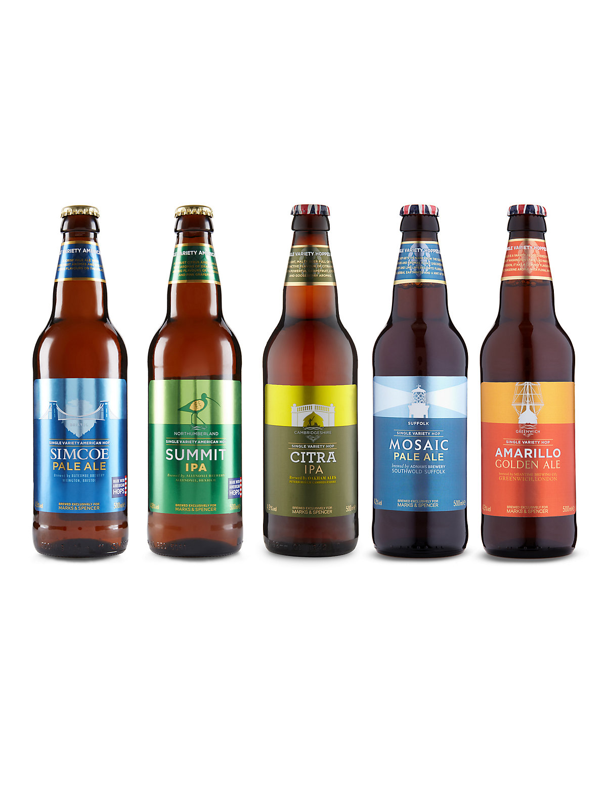 British Beers Made from American Single Hops  Case of 20