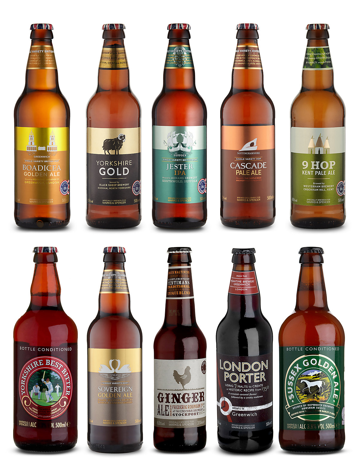 British Beers Made from British Hops - Case of 20