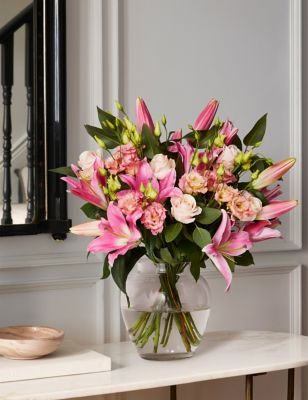 The collection lily lisianthus bouquet send flowers free delivery the collection lily lisianthus bouquet izmirmasajfo