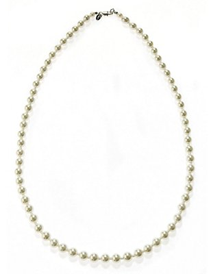 Pearl Effect Classic Mid Collar Necklace, , catlanding