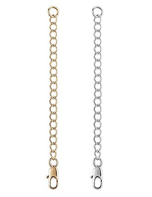 2 Gold & Silver Plated Necklace Extenders, , catlanding