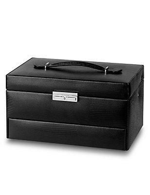 Large Rectangular Jewellery Box, BLACK, catlanding