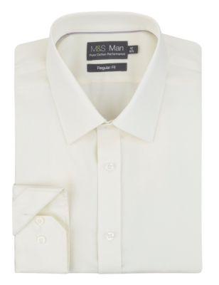 Немнущаяся мужская рубашка из натурального хлопка