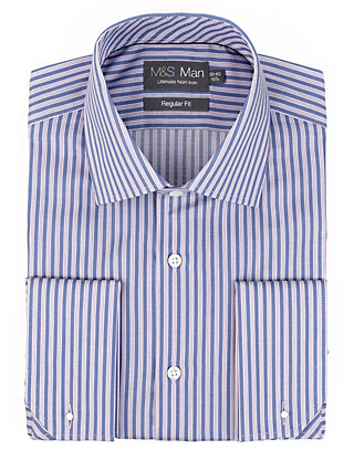 Ultimate Non-Iron Pure Cotton Striped Shirt Clothing