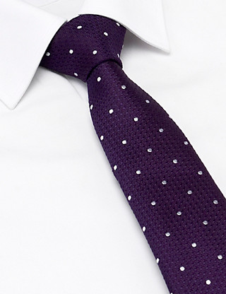 Pure Silk Spotted Tie Clothing