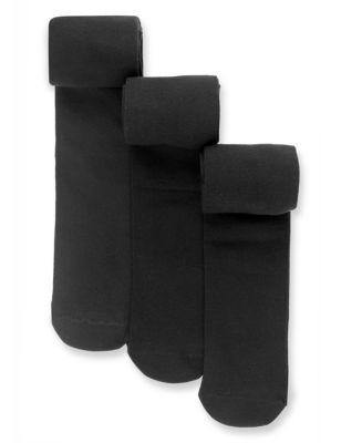 Однотонные школьные колготы с добавлением эластичного волокна (3 пары) M&S Collection T645649
