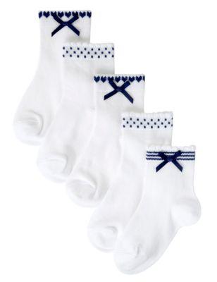 Хлопковые носки Freshfeet™ с контрастным дизайном для девочки 1-16 лет (5 пар) T648052G