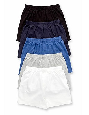 5 Pack Pure Cotton Classic Boxers (6-16 Years), CLASSIC MIX, catlanding