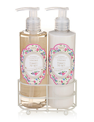 Vintage Forget-Me-Not Hand Wash & Lotion Set Home