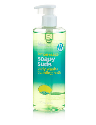 Lemon+Sage Soapy Suds Body Wash & Bubbling Bath 470ml Home