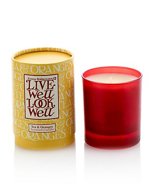 Tea & Oranges Scented Candle, , catlanding