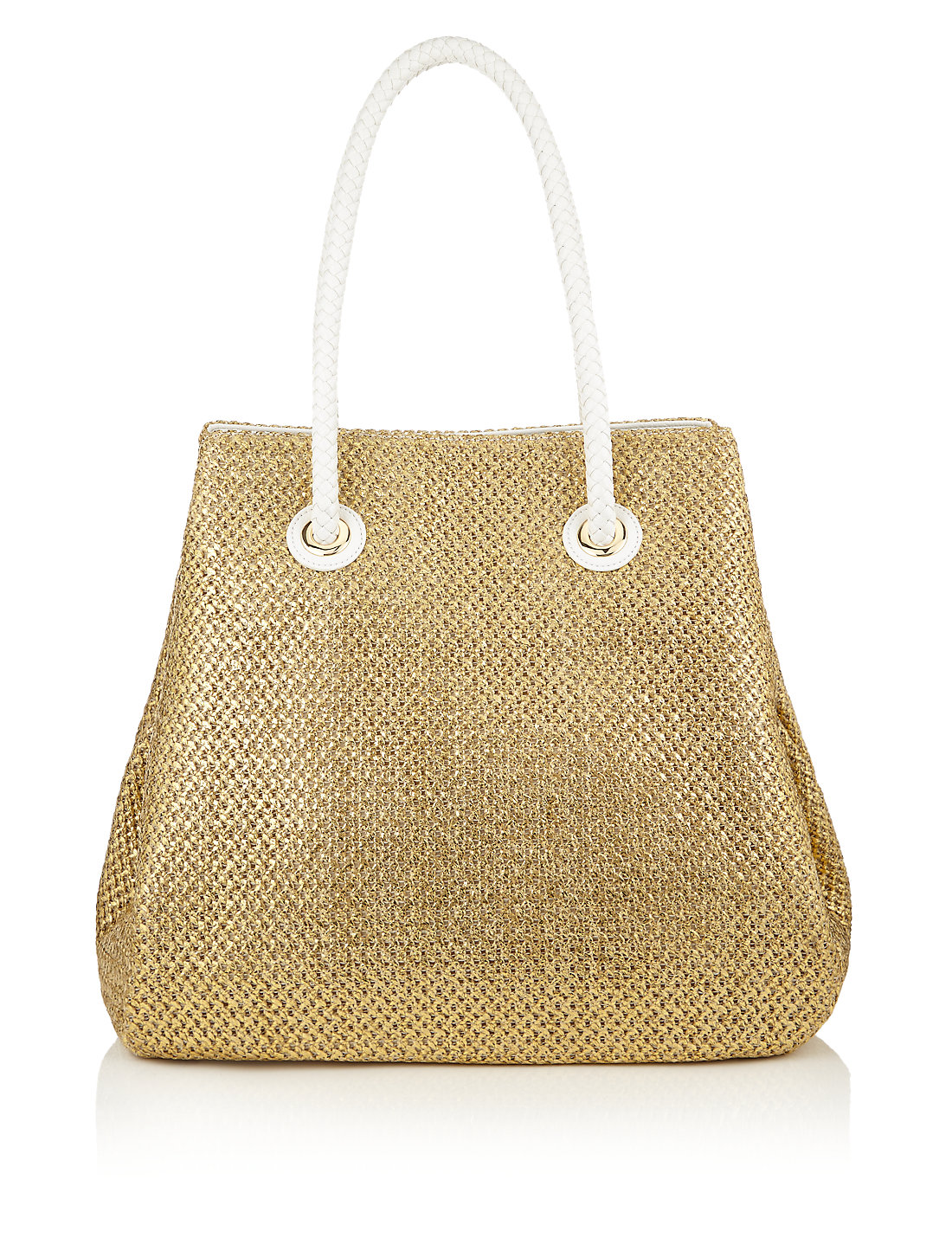 Gold Straw Shopper Bag | M&S