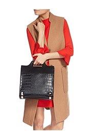 Faux Leather Mock Crocodile Skin Shopper Bag, , catlanding