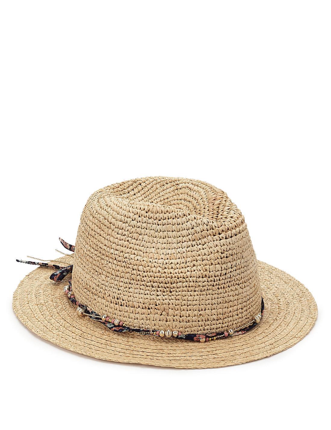 da5d46b76f334c Catarzi Flat Top Wide Brim Hat