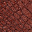 Faux Leather Mock Crocodile Skin Boxy Shoulder Bag, BROWN MIX, swatch