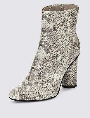 Cylinder Heel Ankle Boot, GREY, catlanding